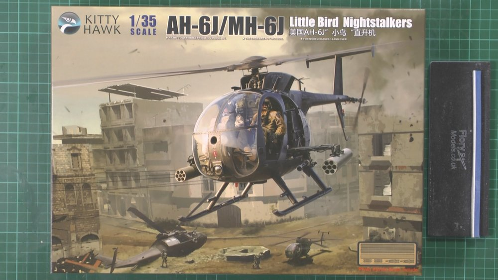 AH-6J/MH-6J Little bird Scale: 1/35   Manufacturer: Kitty Hawk   Parts used: Out of the box build    Main paints used: Tamiya and MRP