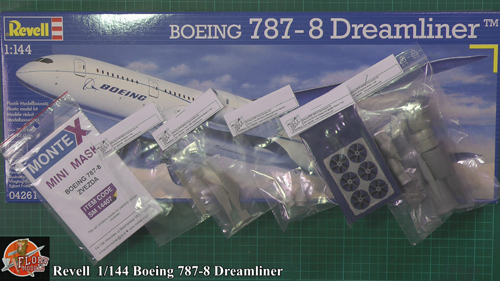 787 Dreamliner Scale: 1/144   Manufacture: Revell   Parts used: Braz Models Conversion kit   Main paints used: Tamiya
