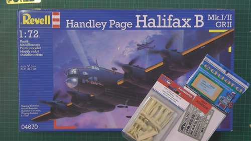 Halifax B Scale: 1/72   Manufacture: Revell   Parts used: Eduard Photo Etched set (73429) ALM Set (72041)   Main paints used: AK, Tamiya & Vellejo