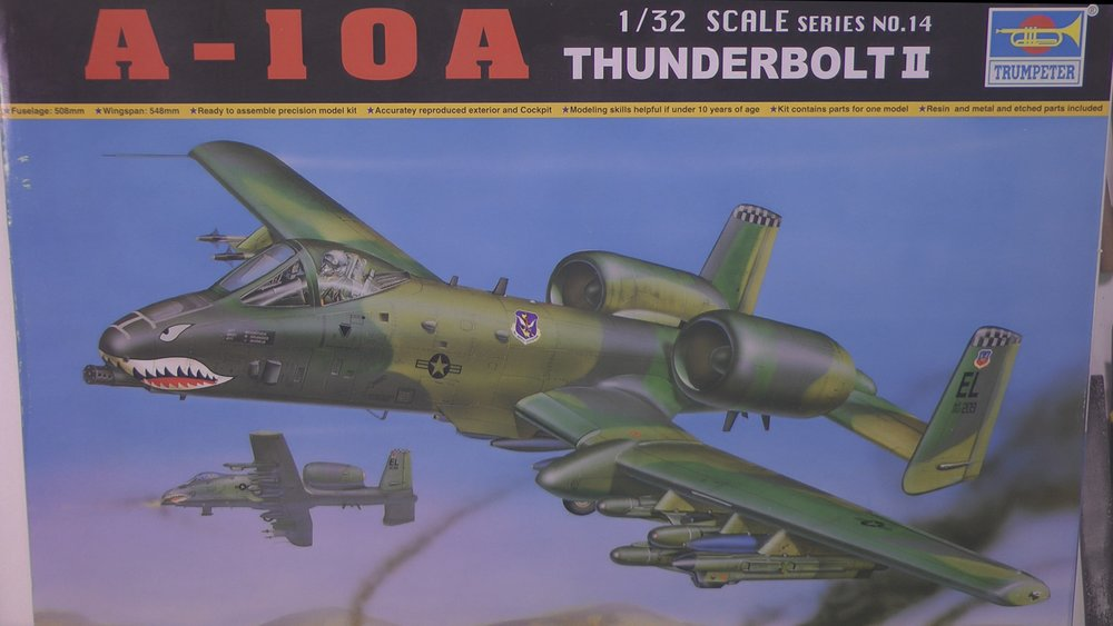A-10 Warthog Scale: 1/32   Manufacture: Trumpeter   Parts used:    Main paints used: Tamya MRP