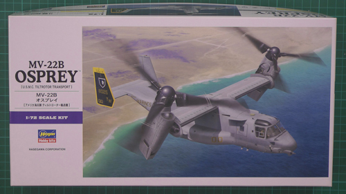 MV-22B Osprey Scale: 1/72   Manufacture: Hasegawa   Parts used: Out of The Box   Main paints used: AK, Tamiya & Vellejo