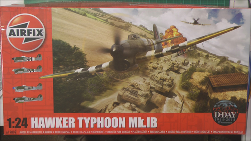 Hawker Typhoon Mk1 Scale: 1/24   Manufacture: Airfix   Parts used: Airfix motor, Eduard Photo Etched sets, Airscale Decals   Main paints used: Tamiya and Vallejo