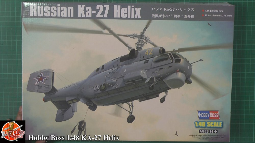 Ka-27 Helix Scale: 1/48   Manufacture: Hobby Boss   Parts used: Out Of the Box   Main paints used: Tamiya, Gunzo and AK