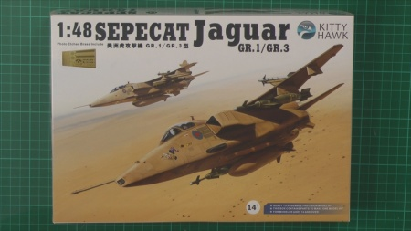RAF Jaguar GR1 Scale: 1/48   Manufacture: Kitty Hawk   Parts used: Eduard Colour Photo Etched cockpit set   Main paints used: Tamiya and Gunze