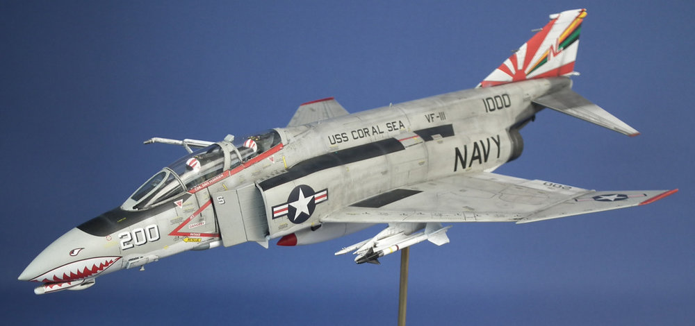 F-4B Phantom II Scale: 1/48   Manufacture: Academy   Parts used: Eduards Color photo etched set and in flight parts    Main paints used: Tamiya and Vallejo