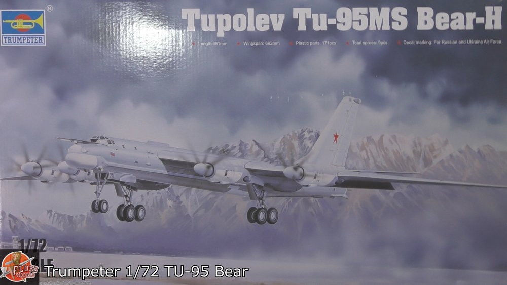 Tu-95 Bear Scale: 1/72   Manufacturer: Trumpeter   Parts used: Out of the box build    Main paints used:Tamiya and Hattaka