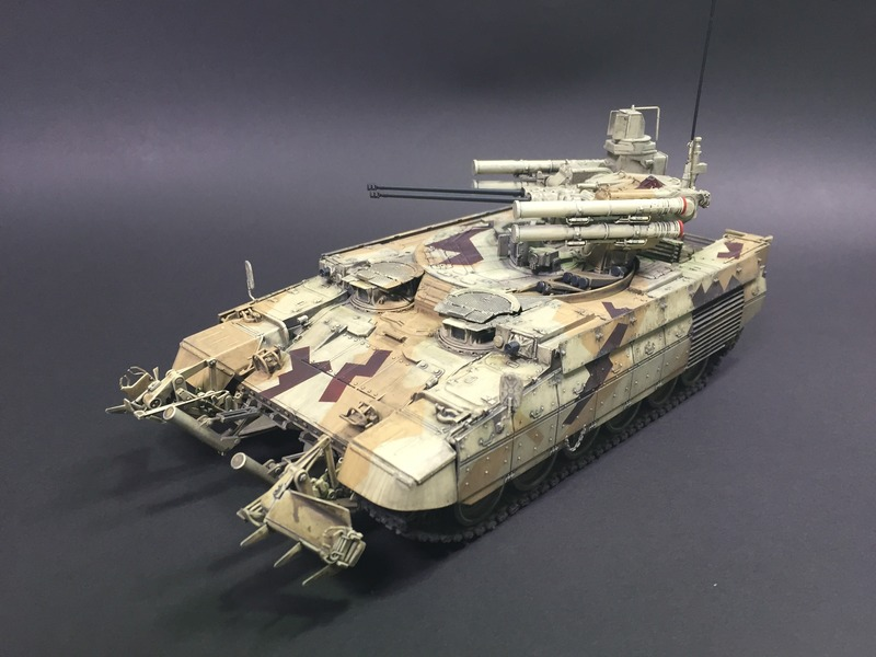 Terminator BMPT Scale: 1/35   Manufacture: MENG   Parts used: Out Of the Box with After market Barrels   Main paints used: Tamiya and Vellejo