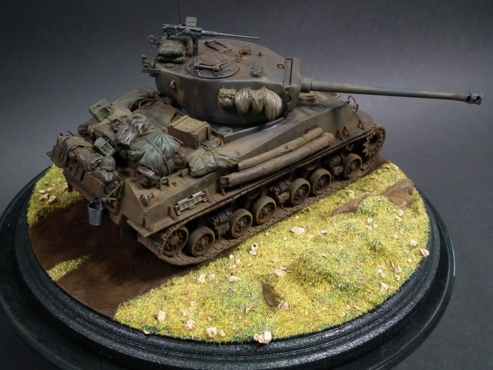 """Sherman """"Easy Eight"""" Scale: 1/35   Manufacture: Tamiya (TASCA)   Parts used: Out Of the Box   Main paints used: Tamiya and Gunze"""