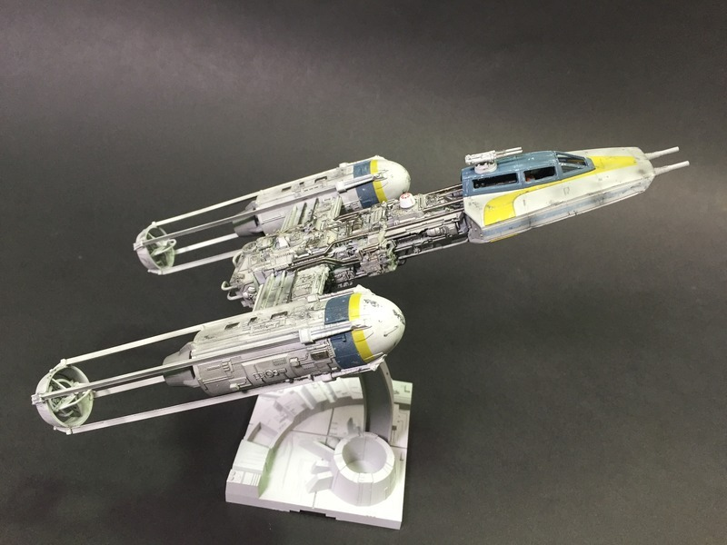 Y-Wing Scale: 1/72   Manufacture: Bandai   Parts used: Out Of the Box   Main paints used: Tamiya