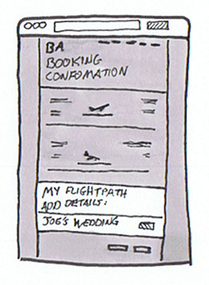 BA Booking Sketch Mockup