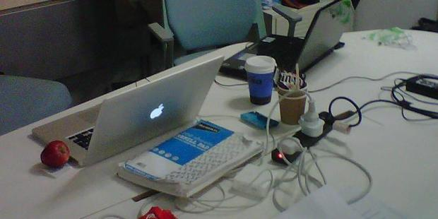 hackathon an apple at midnight