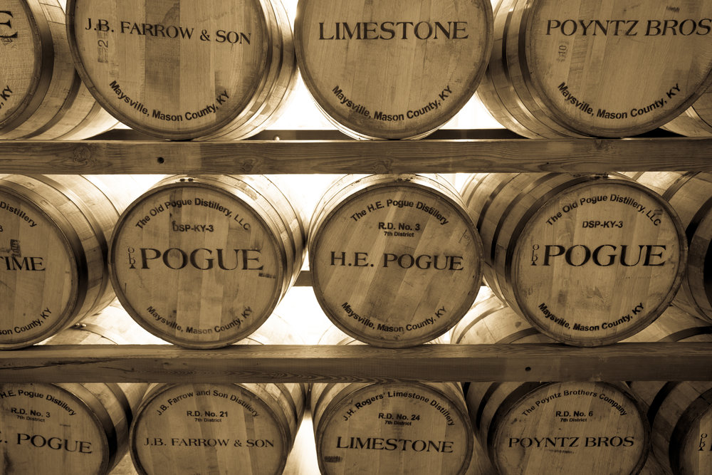 Visitors age 21 and older - can enjoy a tasting of both Old Pogue Master's Select Bourbon and Old Maysville Club, a rye malted whiskey. Tasting are $5 each; limit two per person.