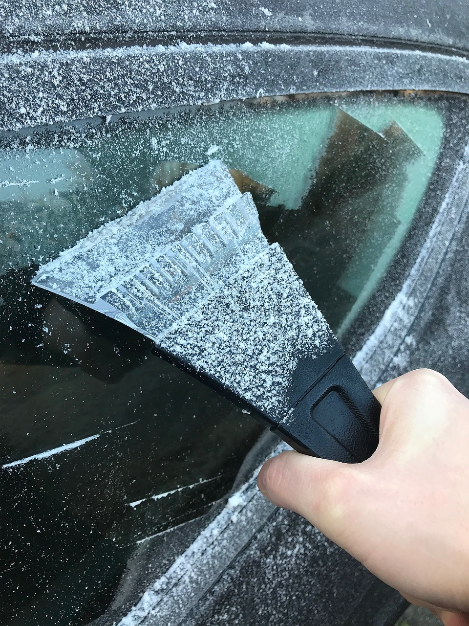 9. Keep a frost scraper and de-icer in car -