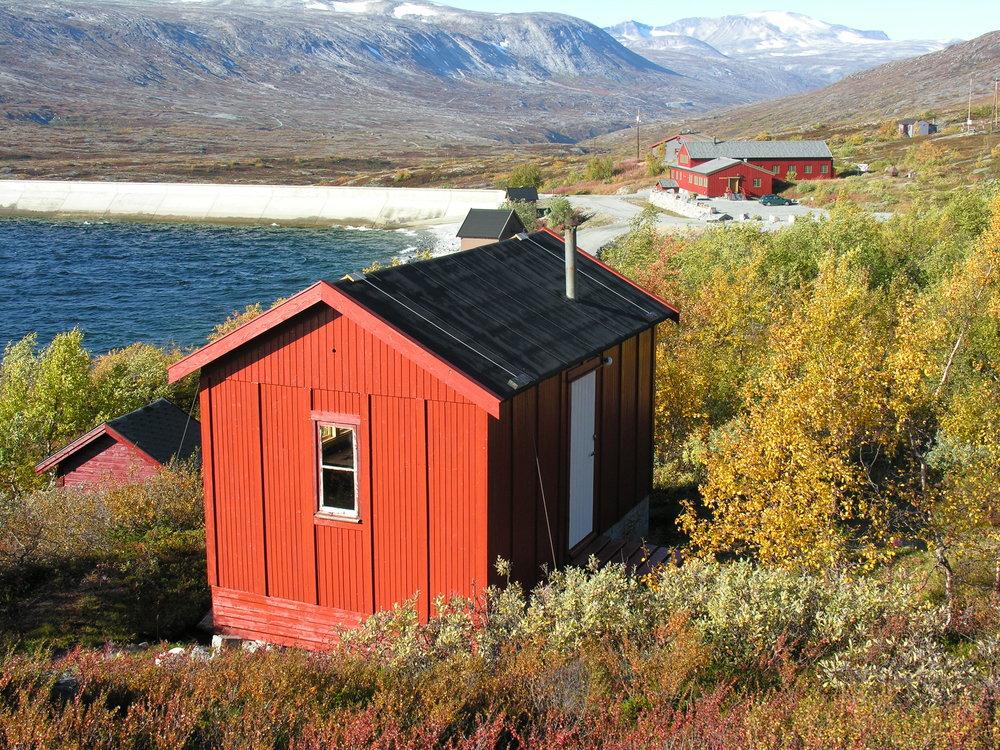 Restaurert anleggsbrakke, Aursjøen. Nesset Fjellstyre..JPG