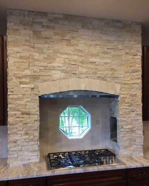 Stone stove alcove