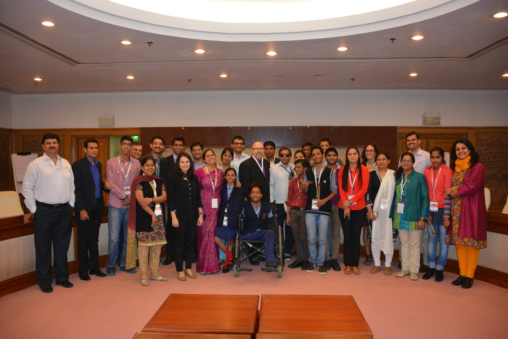 Group photo of participants in the UNESCO Technology Camp 2014 held in New Delhi, India