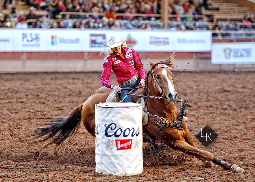Shali Nicholas Lord, Professional Barrel Racer  Image by Lincoln Rogers
