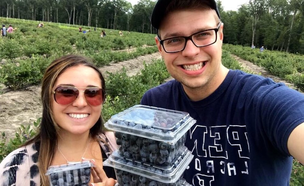 Couples Love Blueberry Picking at DiMeo Farms.JPG