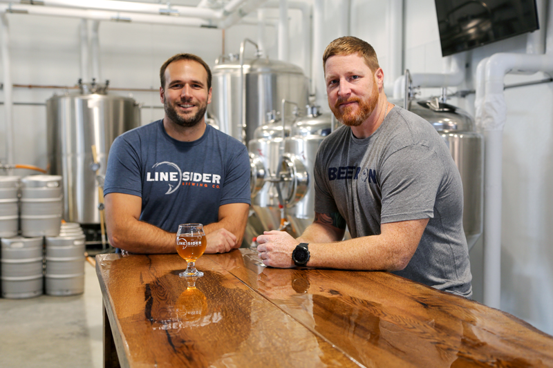 LineSider Brewing Craft Beer Jeremy and Dan