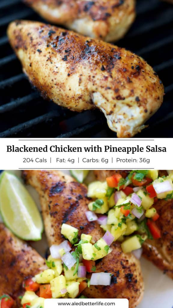 Blackened Chicken with Pineapple Salsa