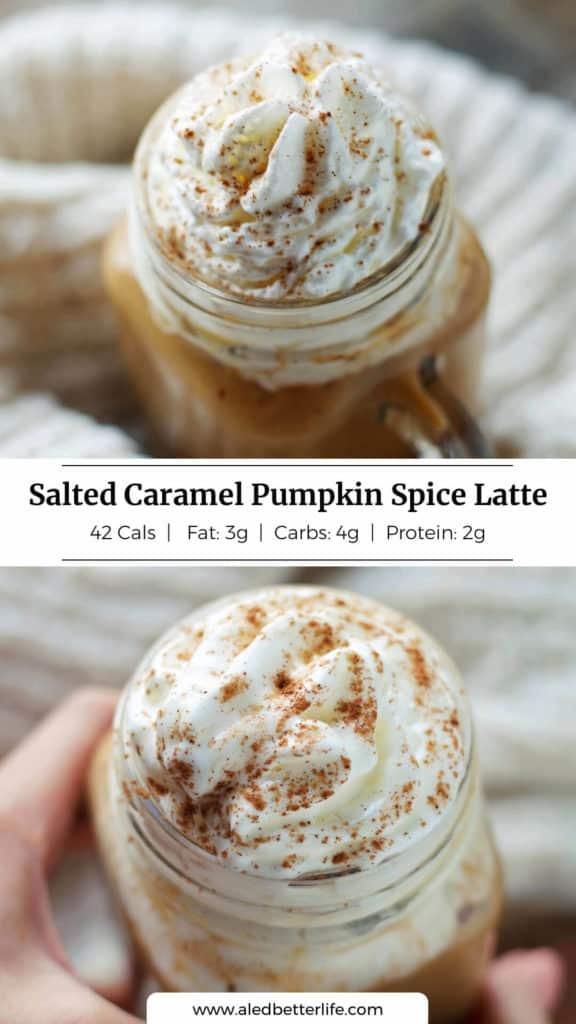 Salted Caramel Pumpkin Spice Latte