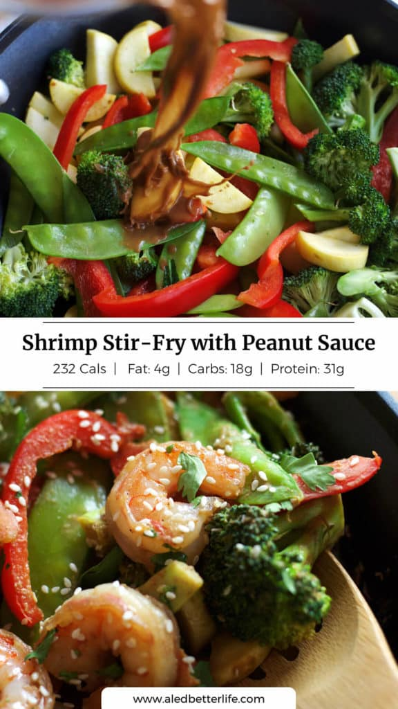 Shrimp Stir-Fry with Peanut Sauce