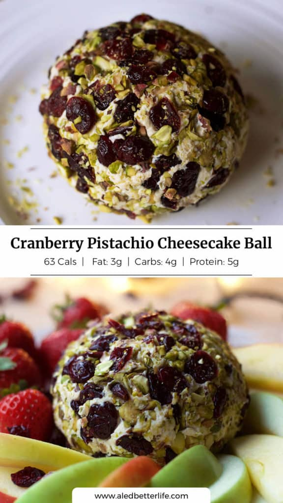 Cranberry Pistachio Cheesecake Ball