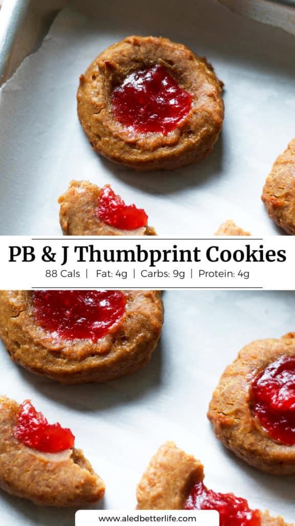 PB and J Thumbprint Cookies