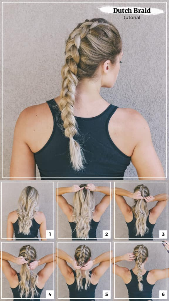 Dutch Braid Step-By-Step Tutorial Image