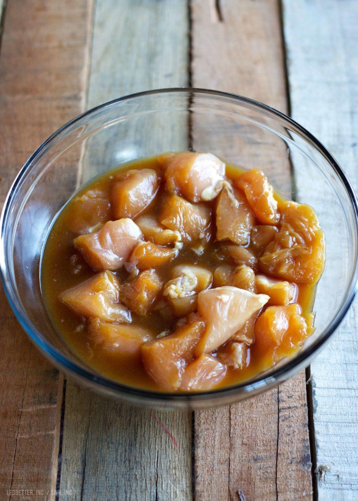 Grilled Teriyaki Chicken and Pineapple Skewers