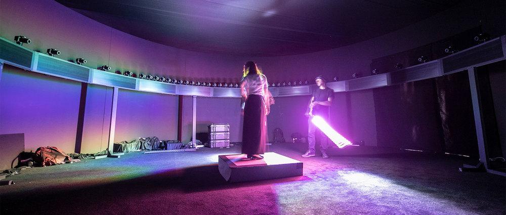 Sharjah, UAE, 2018. 60 cameras 360 bullet-time + light-painting.