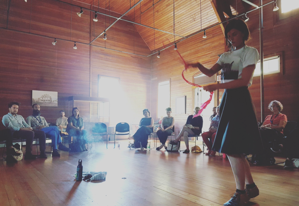 Meagan Musseau performing at SHED Talks. Photo: Shannon Webb-Campbell.