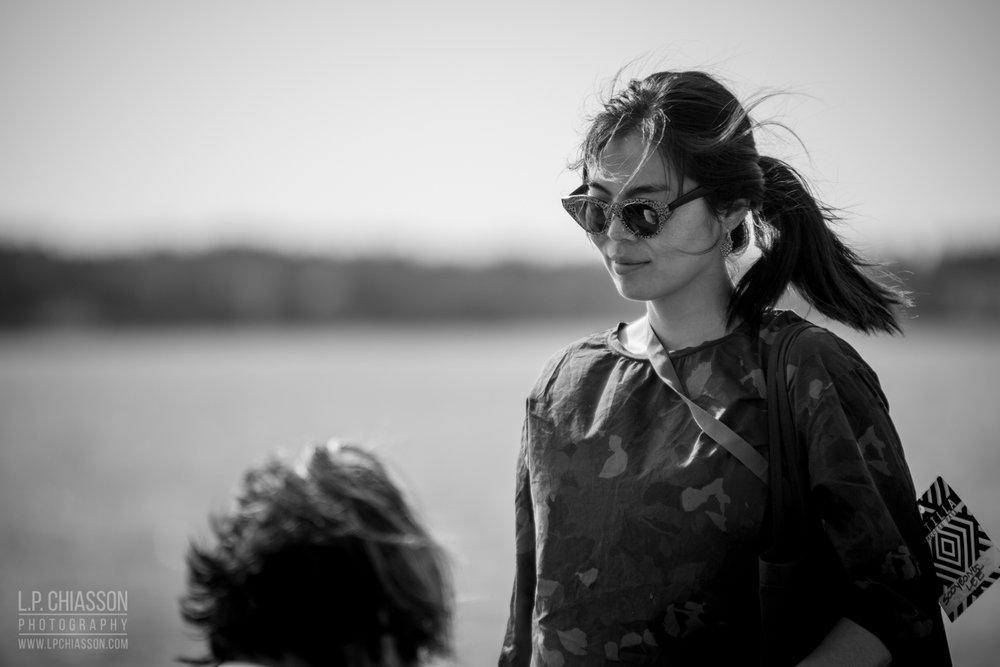 "Sooyeong Lee at Jordan Bennett & Lori Blondeau's performance ""Samqwan/Nipiy."" Photo: LP Chiasson and Festival Inspire."