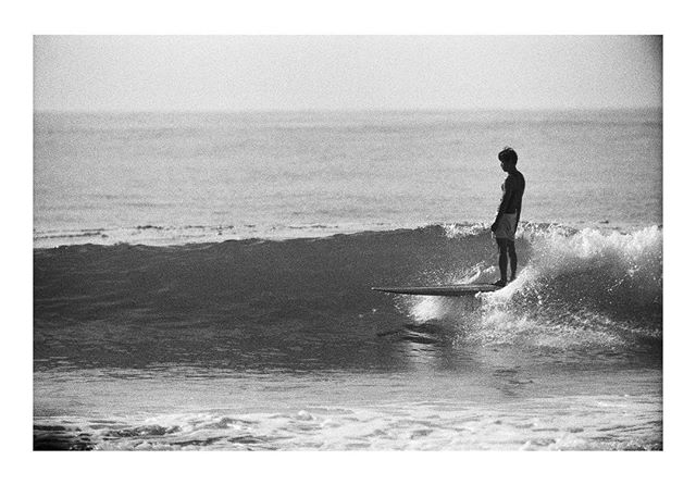 "This is an image ok Kio taken by Tatsuo Takei. Takei also had a book ""Authentic Wave"" featured in the gift shop. He lives 6 months in California out of his van documenting surf culture and the other six in Japan. Kio featured in the image has a brand called Yellow Rat and his board shorts were also featured in the gift shop.  Kio introduced Tatsuo to the show. It was an honor to show both of their work. @yellow_rat_ @tatsuo_takei"