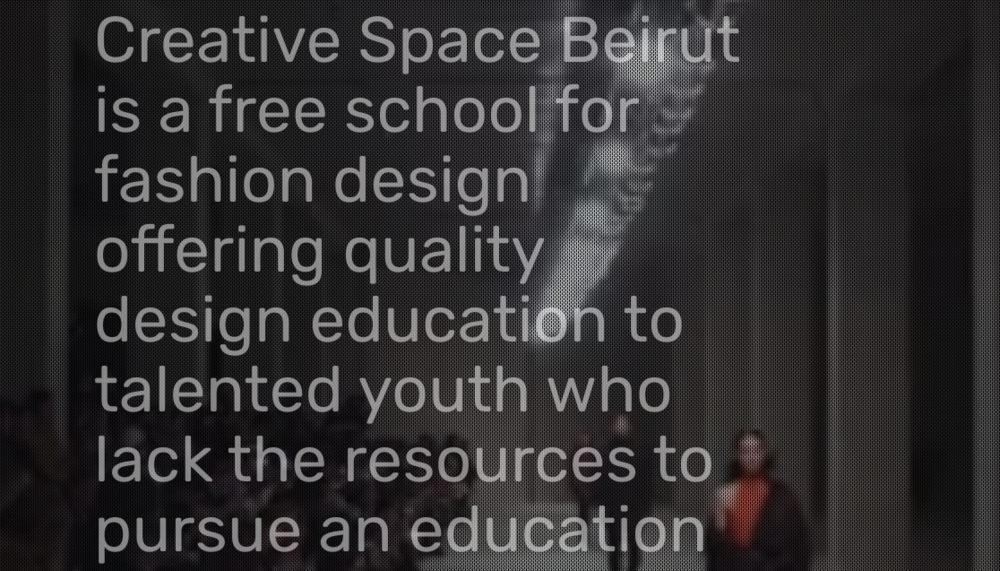 Creative Space Beirut     (fashion school)