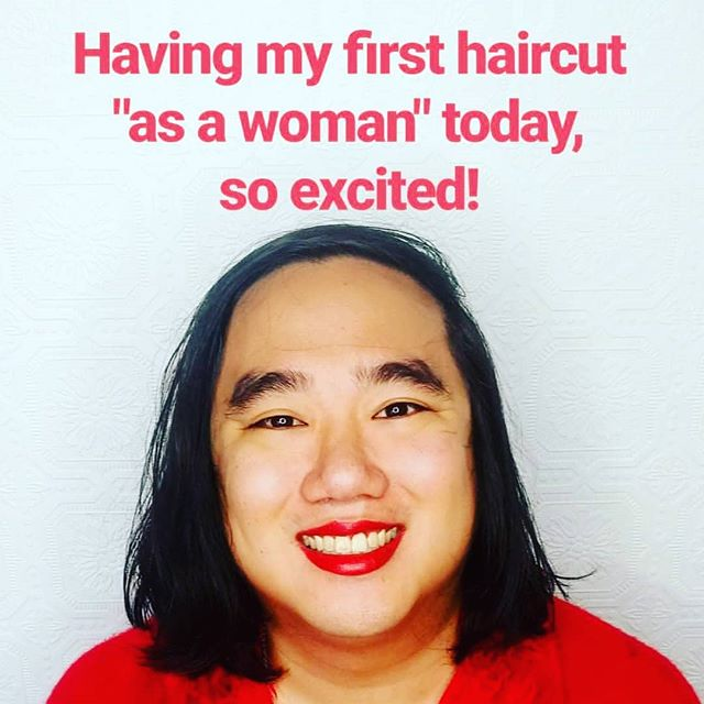 """Having my first haircut today """"as a woman""""  #wontbeerased #thisiswhattranslookslike #transacceptance #transgender #trans #transwoman"""