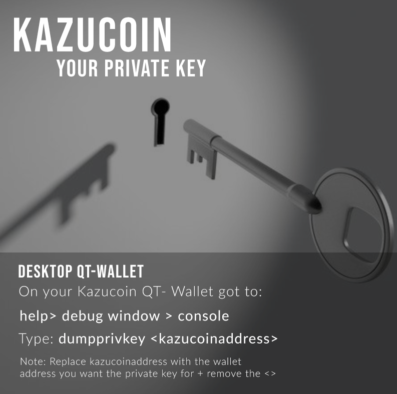 How to get Kazucoin private key.png