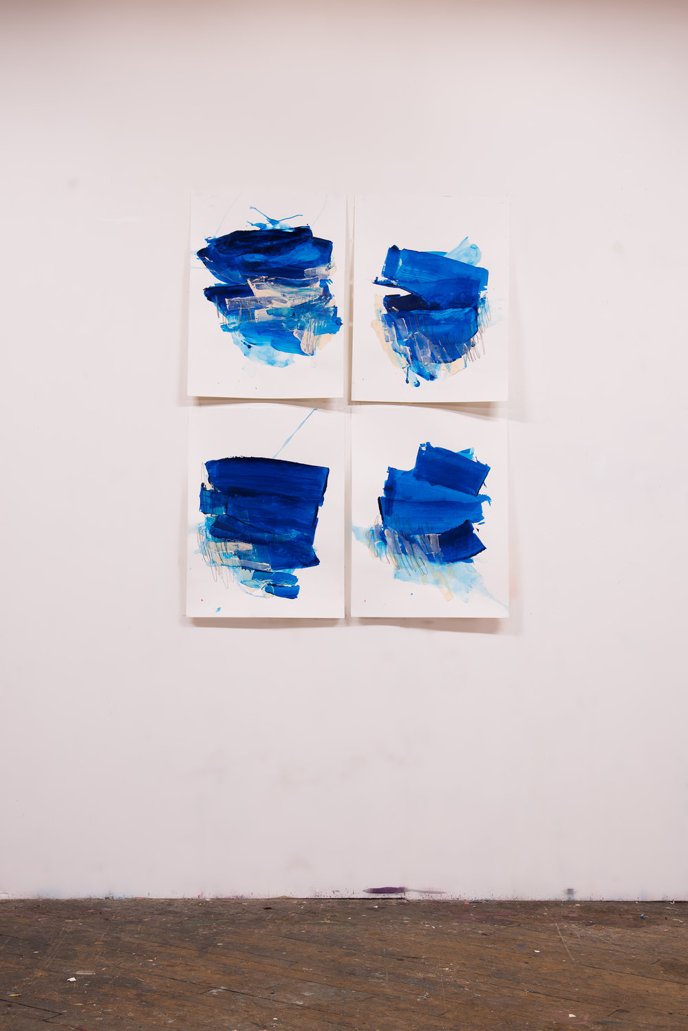 "Buoyant #1-4 , 18""x24"" each, acrylic + graphite on paper, 2018, available"