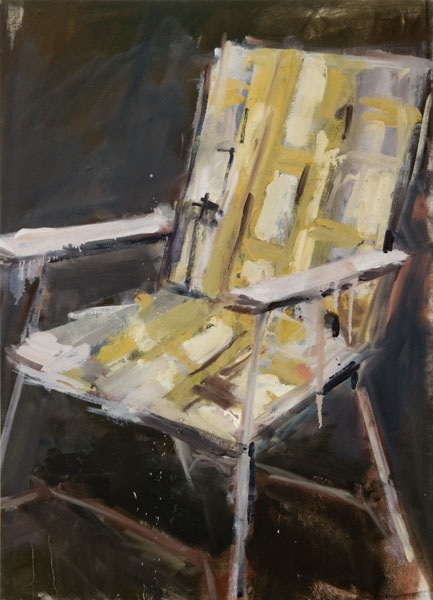 "Lawn Chair #1,  42""x30"", oil on canvas, 2012  Studio Sale price: $1,500"