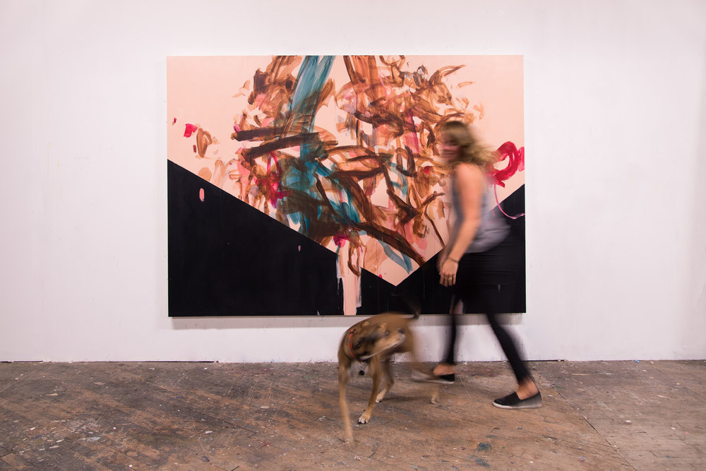 "Capacity , 96""x70"", acrylic on canvas, 2018 