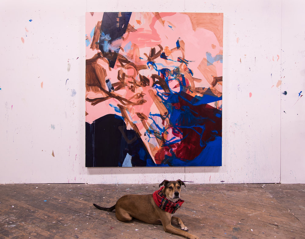 "Like Funfetti and Ice Cream , 66""x74"", acrylic on canvas, 2019 