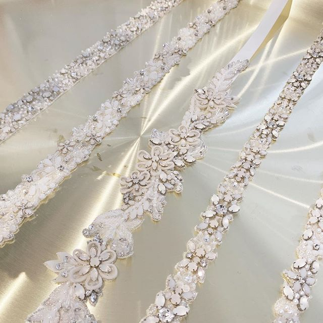 Day 2! Last day to see the collection, come by and see our new sashes with frosted and opal stones! . . . . . #wedding #bride #weddinginspiration #weddingdetails #weddingstyle #bridal #accessories #bridal belts #statementpiece #bloombazaar