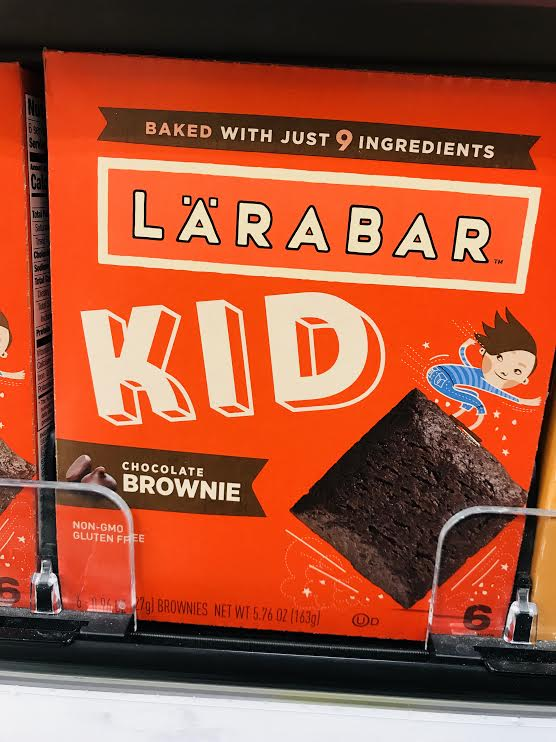 LARABAR KID - While I normally love the LARABAR products, these were somewhat disappointing. It's as if they couldn't decide what kind of bar they wanted to be. They are high in sugar, not that full of any particular nutrient and were not a hit with the kids. (Note: produced in a facility with many allergens)