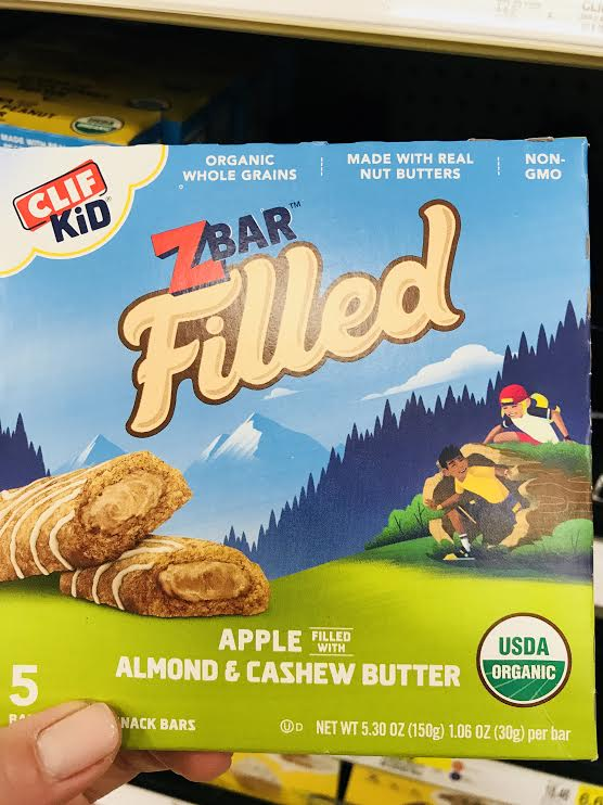 ClifKidZBar Filled - These bars are similar to their brother ZBars, except they are higher in many minerals because of the nut butters. So, if you are looking for a more nutritious, popular with the kids granola bar (albeit still with a fair dose of sugar), these are a good choice. (Note: produced in a facility with many allergens)