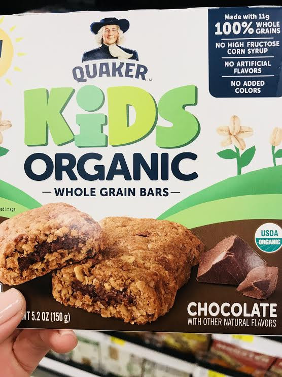 Quaker Kids Bars - This is another good alternative to a standard granola bar. Made with organic, higher quality ingredients, it is still a granola bar. There isn't much nutrition other than a small amount of fiber, but the kids definitely like these as well. They also have slightly less sugar than some of the other bars.