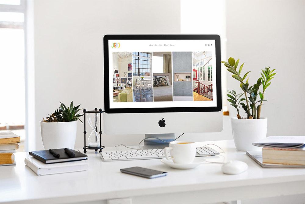 Interior Design web design in Squarespace