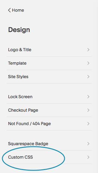 Custom CSS Menu in Squarespace