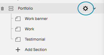 Page settings in Squarespace