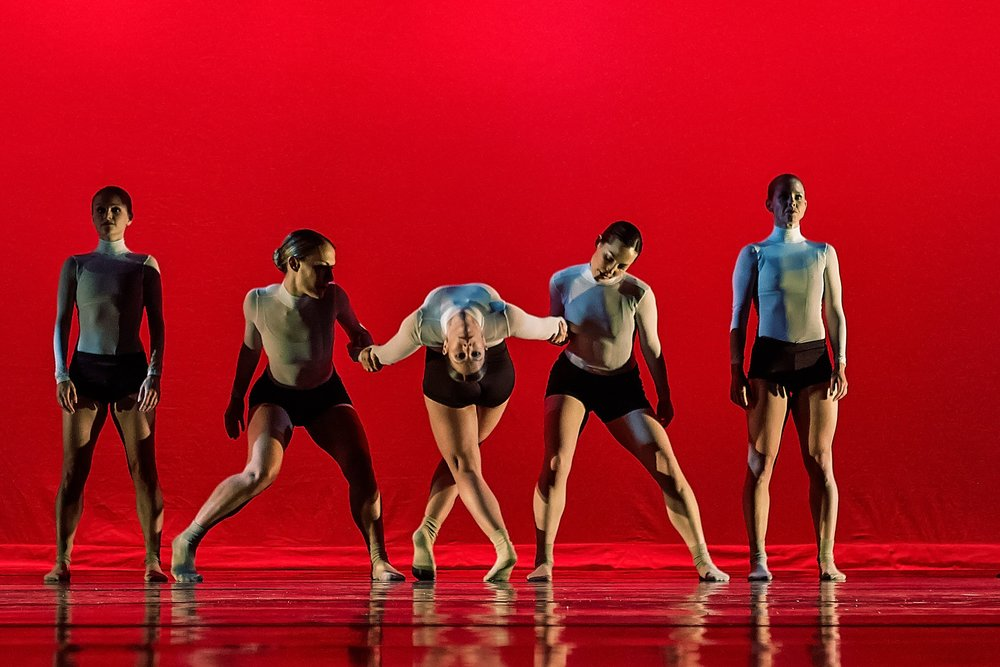 Trysting Stiles and Shell Games for Five - is a fast paced explosion of unexpected twists, turns, jumps and partnering. Static and stoic meets high energy and highflying lines to culminate in a visual experience of contemporary jazz dance.