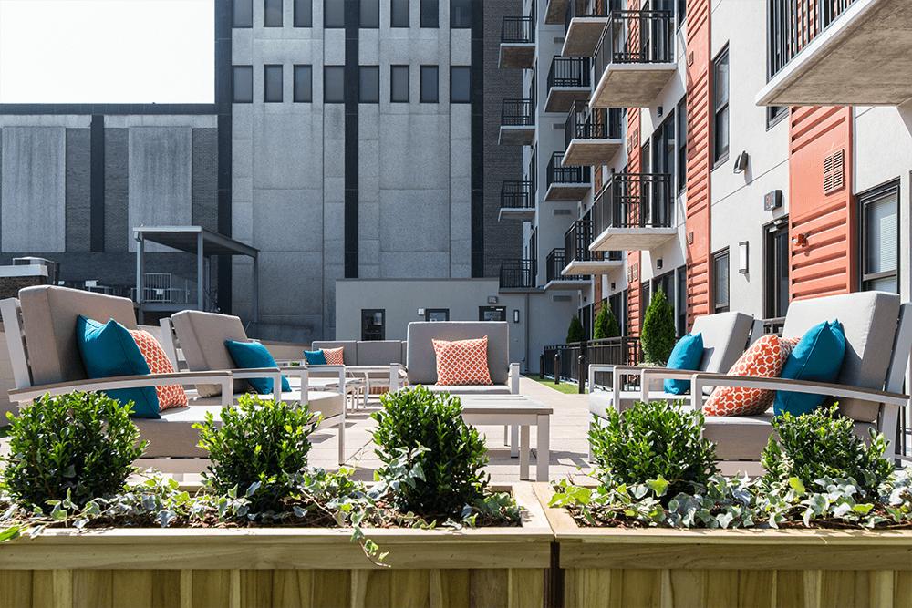 Outdoor Rooftop Terrace area on 4th Floor